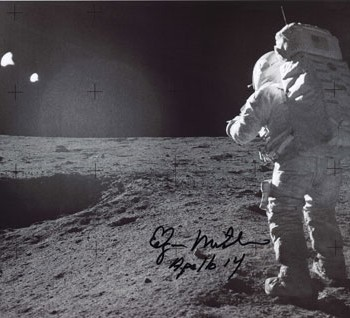 Mitchell, Edgar Autographed Print | Astronaut Scholarship ...