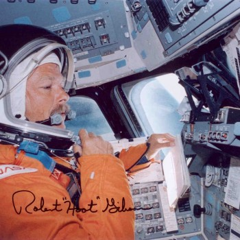 Hoot Gibson Autographed STS-47 Print