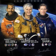 US Astronaut Hall Of Fame Class of 2006 Autographed Commemorative Poster