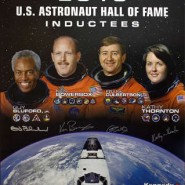 US Astronaut Hall Of Fame Class of 2010 Autographed Commemorative Poster